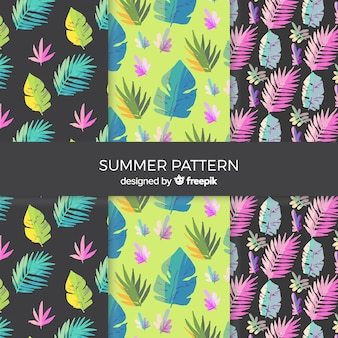 水彩夏パターンコレクション