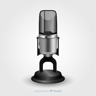 Реалистичный винтажный микрофон
