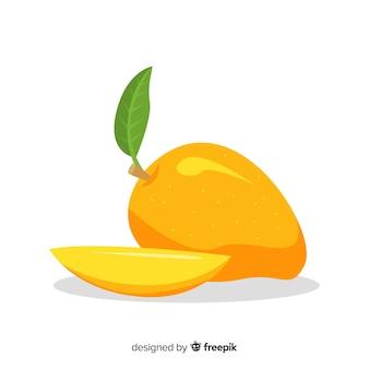 Плоская иллюстрация манго
