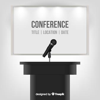 現実的な会議の表彰台の背景