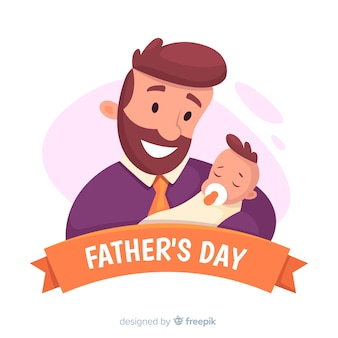 Плоский день отца фон