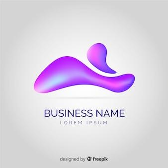液体形状の抽象的なロゴのテンプレート