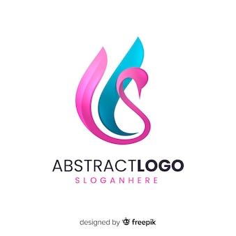 Градиент абстрактный логотип шаблон