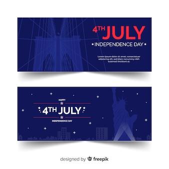 Баннеры четвертого июля