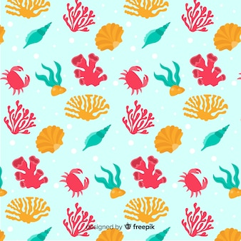 Ручной обращается рисунок коралла