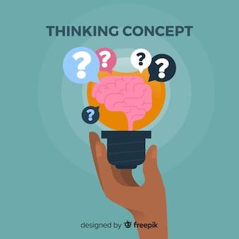 フラット思考の概念
