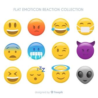 Плоская коллекция эмоций