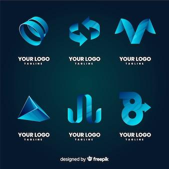 Градиентная коллекция абстрактных логотипов