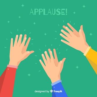 Плоские красочные аплодисменты фон