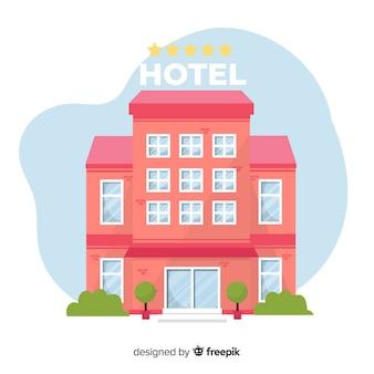 Плоское здание гостиницы