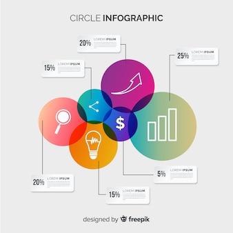 サークルインフォグラフィック
