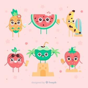かわいい夏のキャラクターコレクション