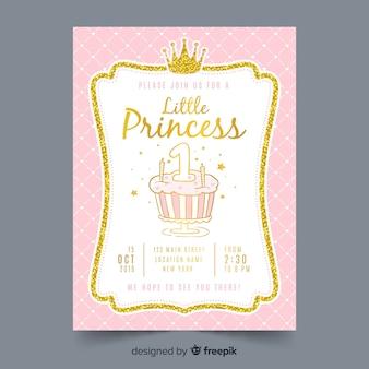 Ручной обращается принцесса приглашение на вечеринку