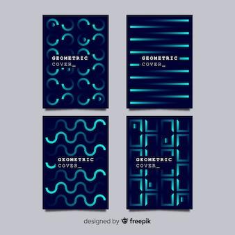 幾何学ラインパンフレットパック
