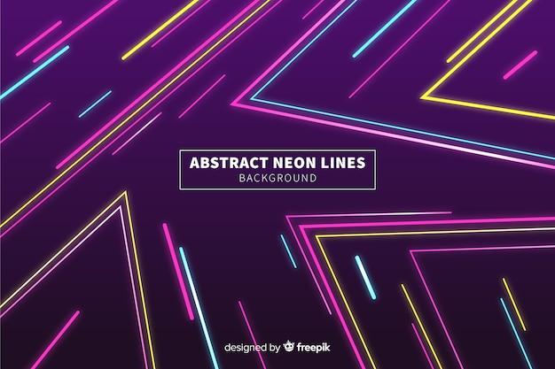 抽象的なカラフルなネオン線背景