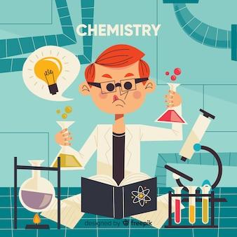 平らな化学の背景
