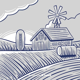 農場の風景