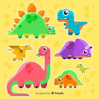 フラット恐竜コレクション