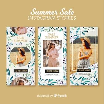 Летняя распродажа инстаграм историй шаблонов