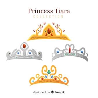Плоская принцесса тиара коллекция