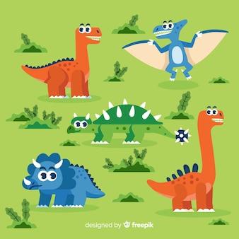 手描きの恐竜コレクション