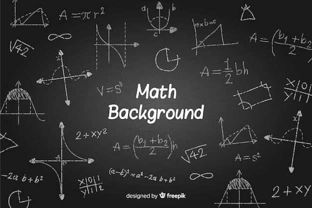 Математика реалистичный фон доске