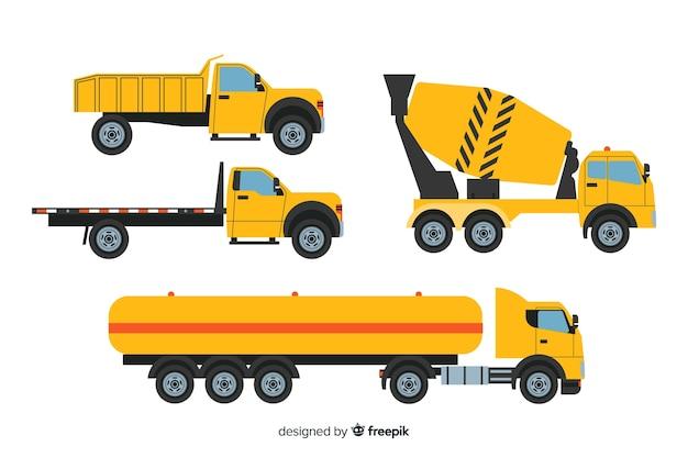 Коллекция плоских строительных машин