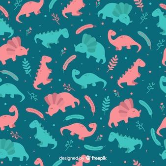 Ручной обращается рисунок динозавра