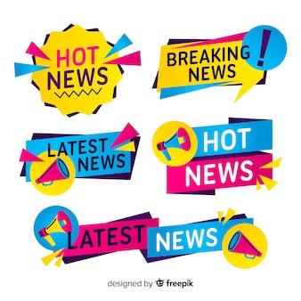 Коллекция красочных новостных баннеров