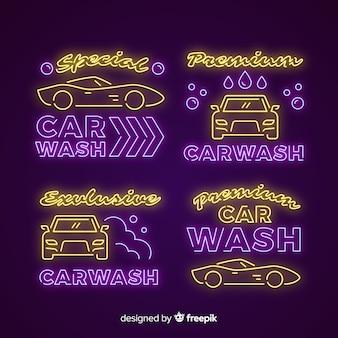 Неоновый знак автомойки