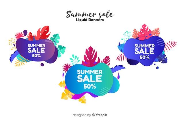 Летняя распродажа жидких баннеров