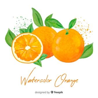 Акварель оранжевый фон