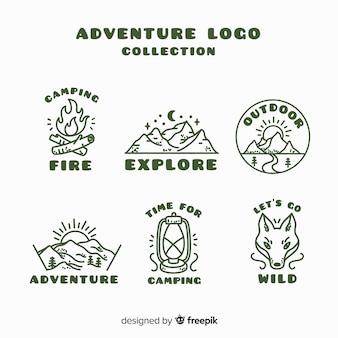 手描きの冒険ロゴコレクション