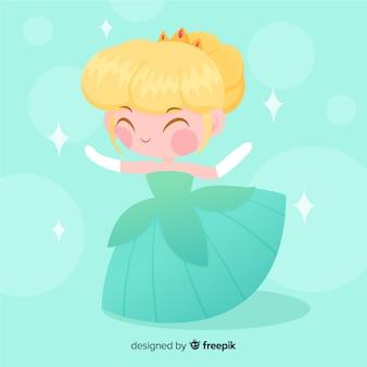 手描き金髪王女の肖像画