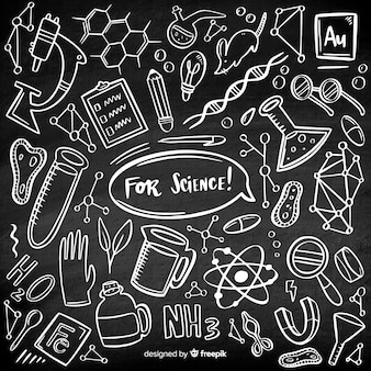 手描き化学黒板