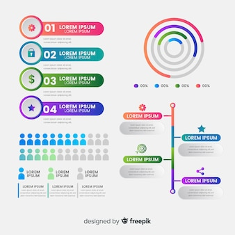 ピクトグラムのインフォグラフィック
