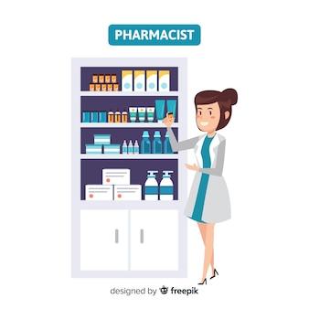 Квартира фармацевт посещает клиентов фон