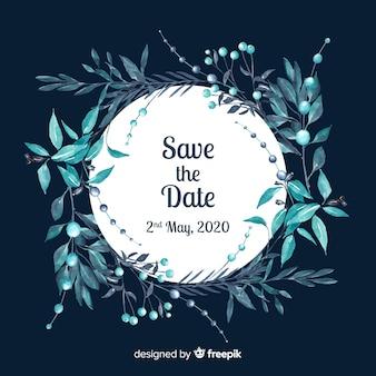 水彩画で日付を保存