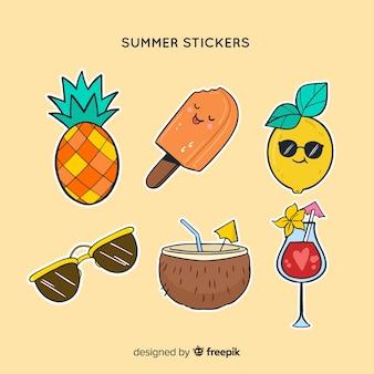 夏のステッカーコレクション