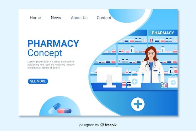 ブルー薬局のランディングページ