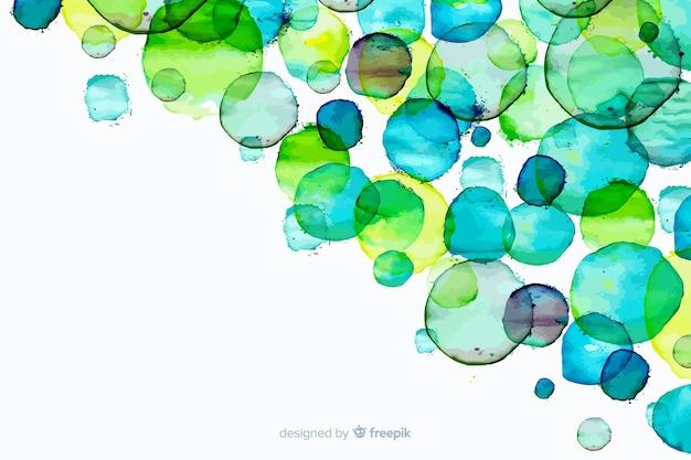 グラデーションの水彩画の汚れ背景