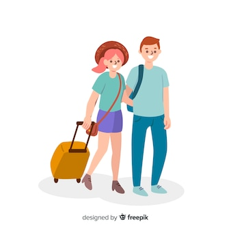 Пара путешествует