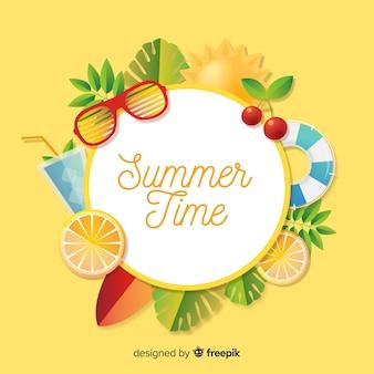 リアルな夏の背景