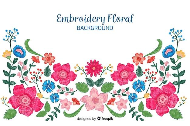Красочная вышивка цветочный фон