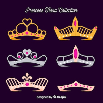 プリンセスゴールデン&シルバーティアラパック