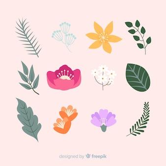 Коллекция листьев и цветов