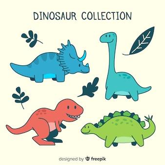 Коллекция рисованной динозавров