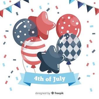 フラットの独立記念日の背景