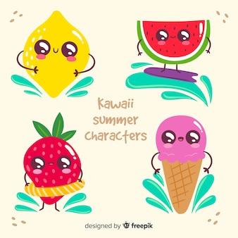かわいいアイスクリームキャラクター