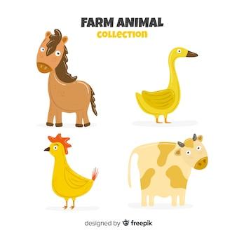 Плоская коллекция сельскохозяйственных животных